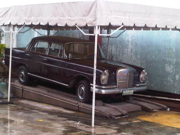 The car used by Pope John Paul II when he was in Cebu